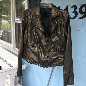 Gold denim lightweight jean jacket